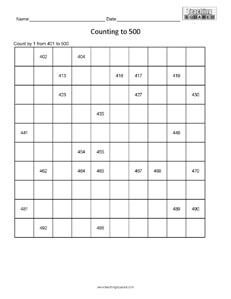 Counting Tables Easy Math Worksheets Math Worksheets Math Counting