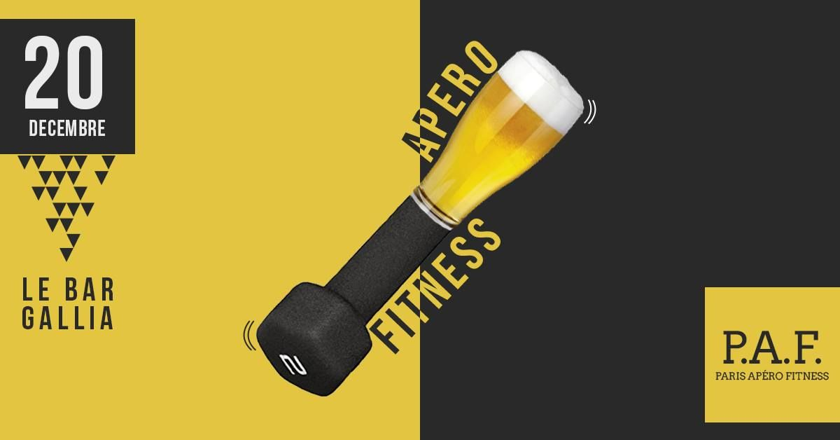 Apéro Fitness au Bar Gallia December 20 @ 19:30 - 22:30	Free - €10