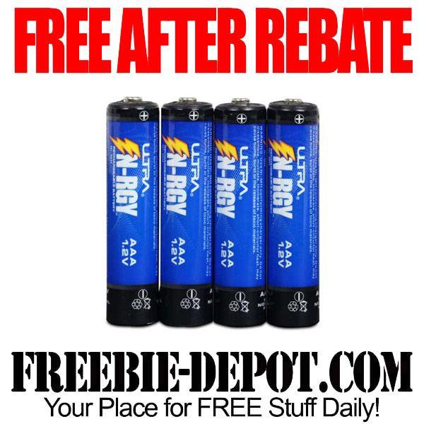 ►► FREE AFTER REBATE - AAA Rechargeable Batteries - Exp 11/7/15 ►► #FreeAfterRebate, #FREEbate, #TigerDirect ►► Freebie-Depot