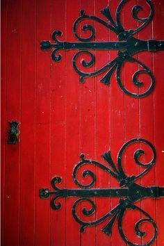 Crimson red church door with decorations found in Manchester original signed Fine Art photo giclee print (Home Decor) & Crimson red church d http://ift.tt/1e2N8nX | BLacK \u0026 ReD ... Pezcame.Com