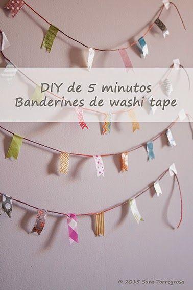 Banderines de washitape - DIY de 5 minutos