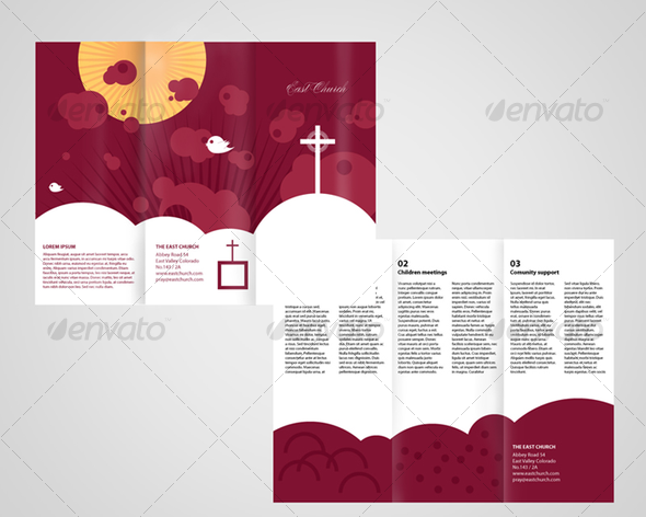 Local Church Trifold Brochure Corporate Brochures Church Graphic