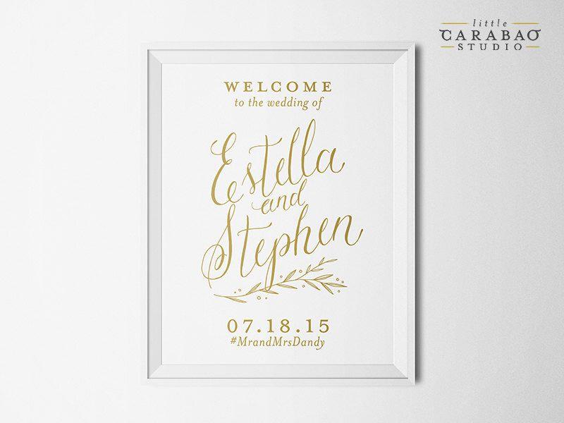 DIGITAL Wedding Welcome Sign Calligraphy PRINTABLE Reception Sign Custom Wedding Sign - Little Carabao Studio - #PC106 by littlecarabaostudio on Etsy https://www.etsy.com/listing/236387777/digital-wedding-welcome-sign-calligraphy
