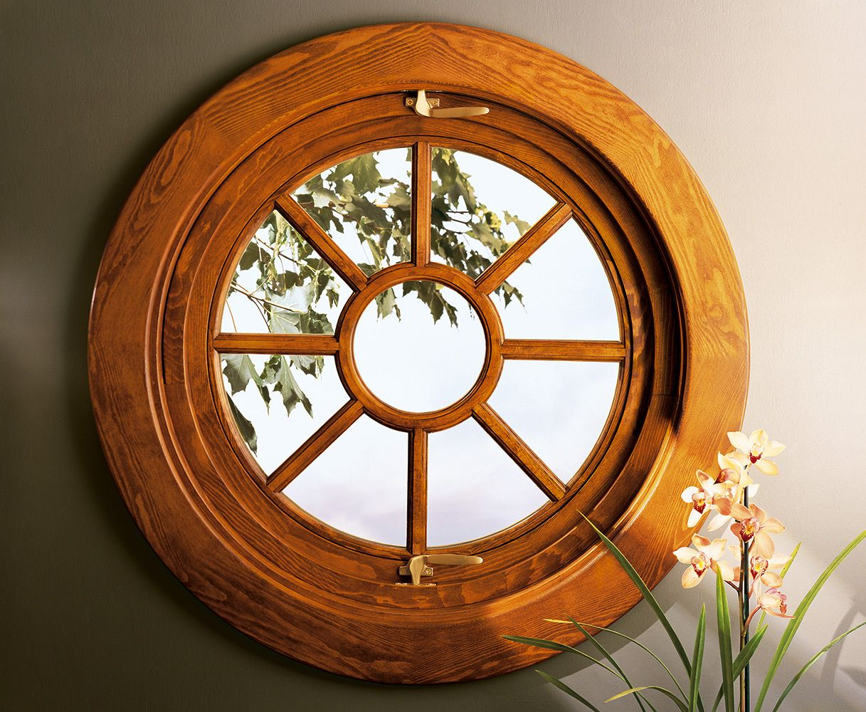 The Marvin Round Pivot Window provides a