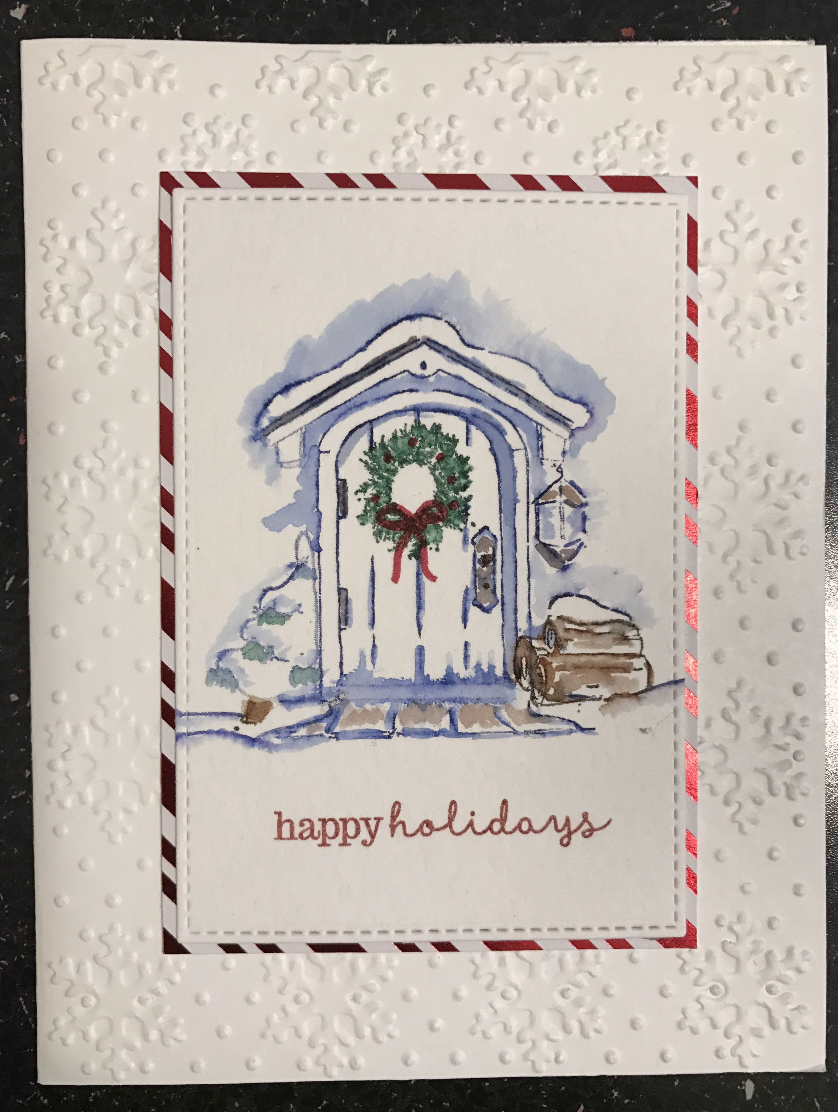 Art Impressions winter holiday card Art Imp videos