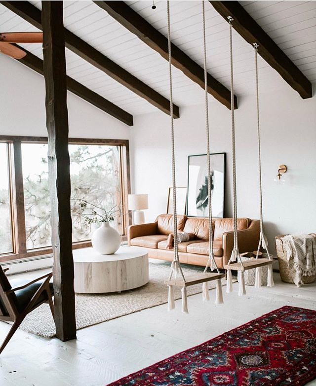 Beautiful higge living room complete with swings! #hygge # ...