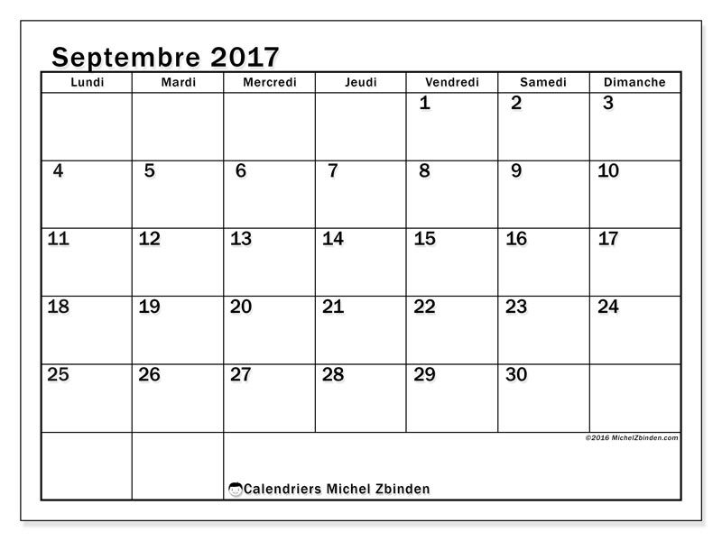 Calendriers A Imprimer Calendrier Septembre Calendrier Janvier