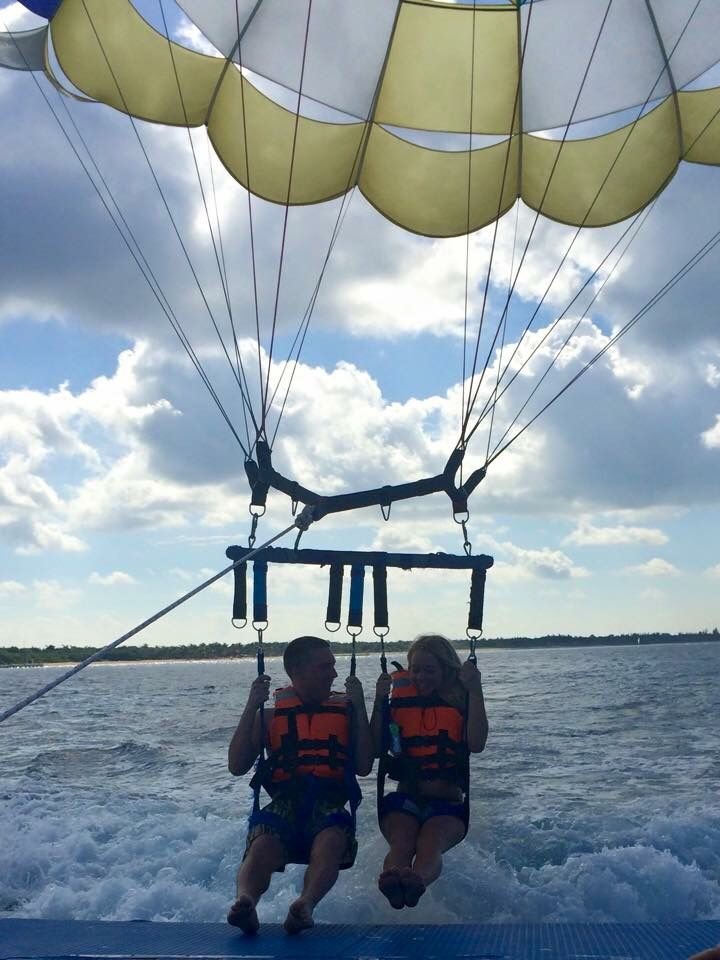 Parasailing Cozumel Mexico Folly Beach Blue Ridge