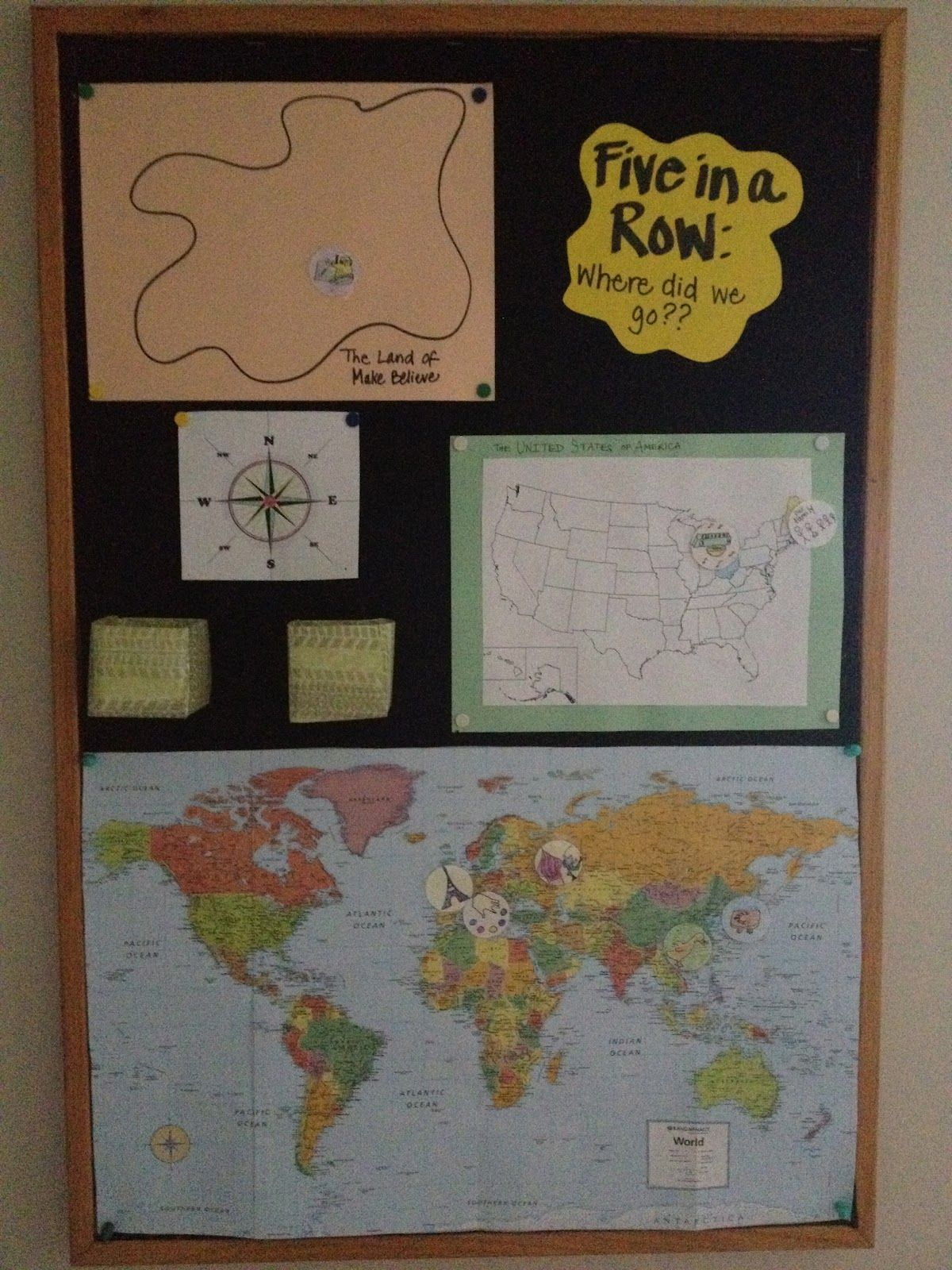 Map To Show Where The Books We Read Take Place Five In A Row Homeschool Art School Room