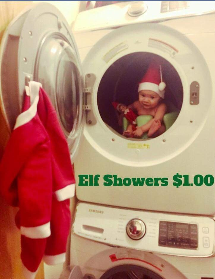 Elf Showers, keeping Elves clean since 2002 - $1.00 a cycle