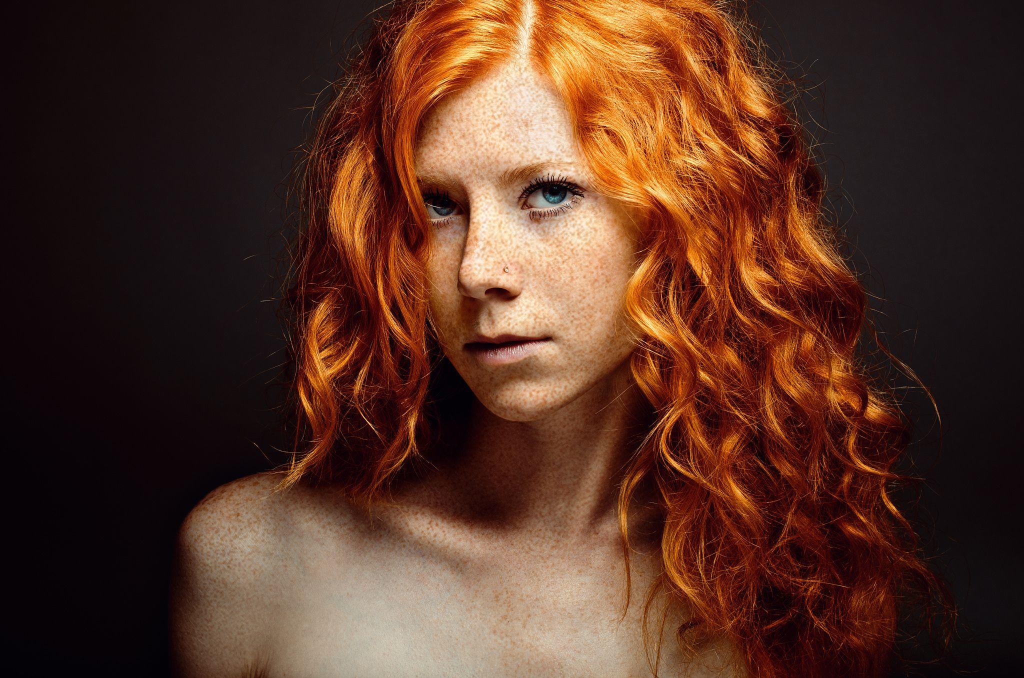 Red head by Sergey Gromov female models Pinterest