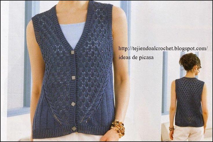 pinterest patrones chalecos para damas tejidos a dos agujas - Buscar ...