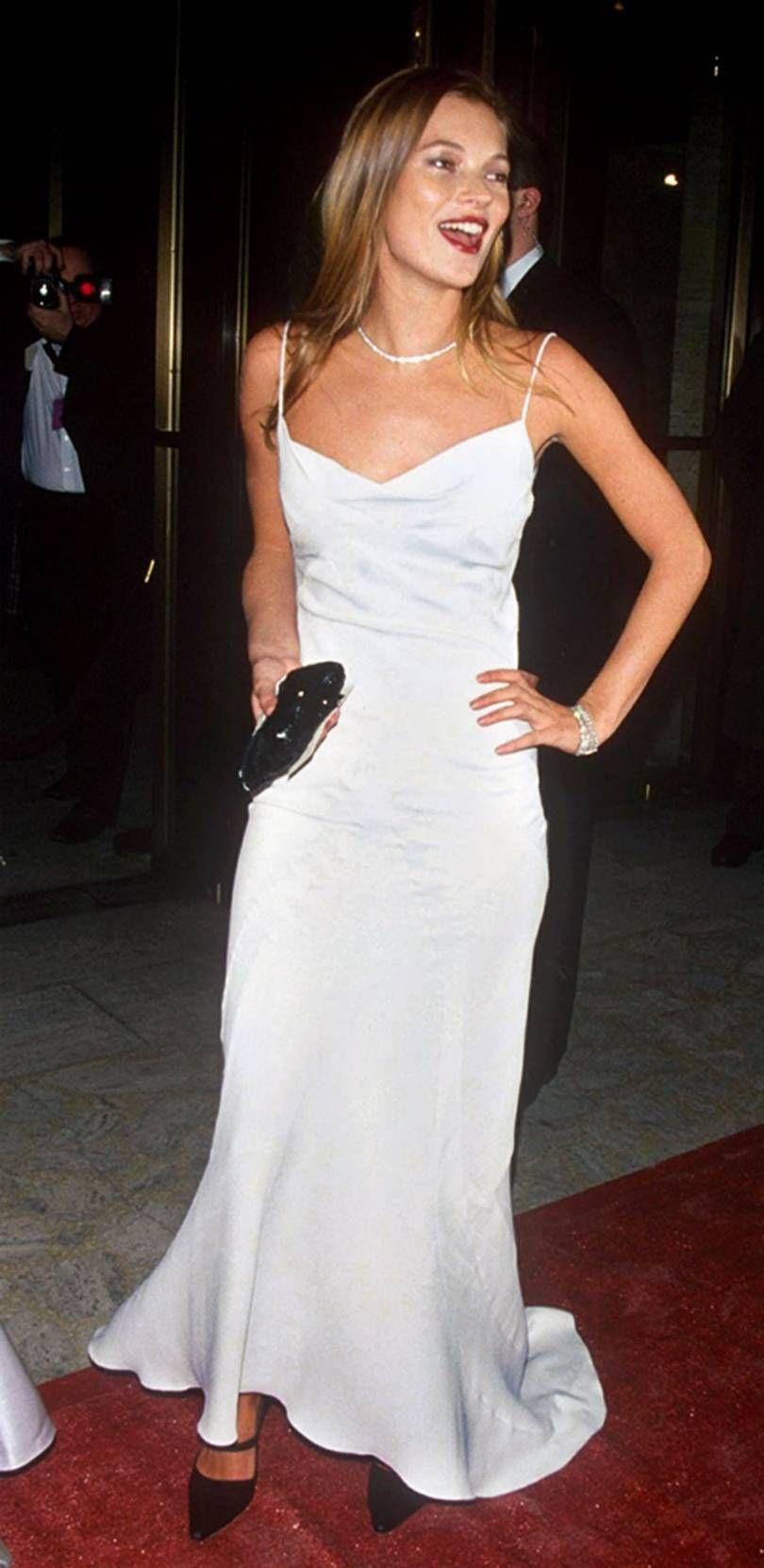 Kate Moss 90s John Galliano White Slip Dress Dresses Slip Dress 90s Kate Moss Style