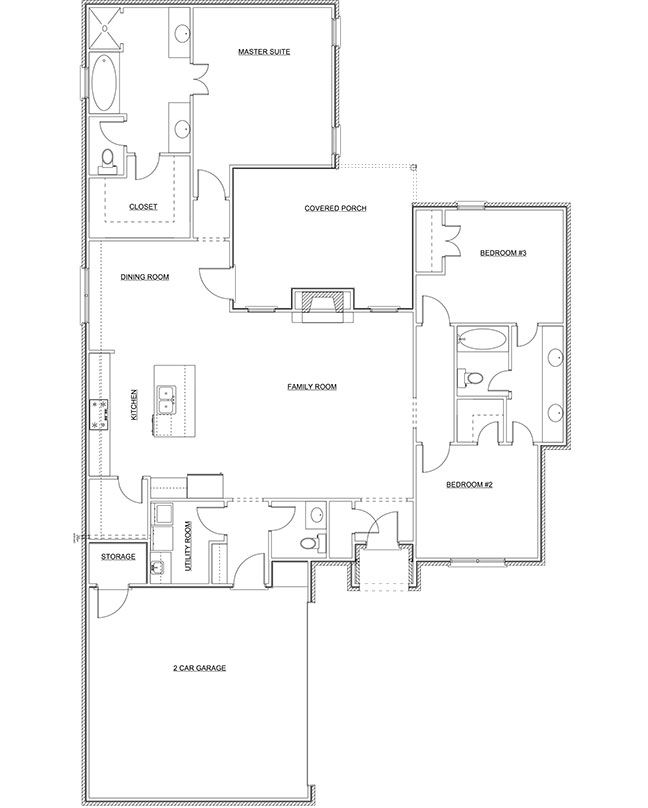 The MOORLAND has 1960 Square Feet with 3BR/2BA