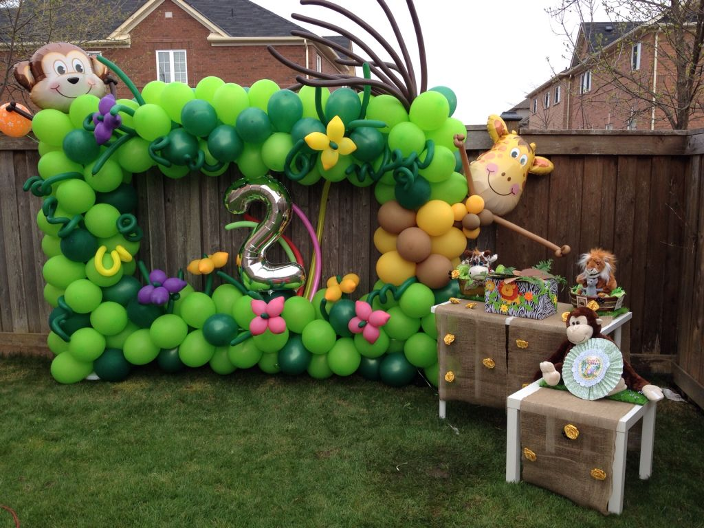 Jungle Decoration Jungle Frame Party Decoration Im Turning 2 Welcome To My Party