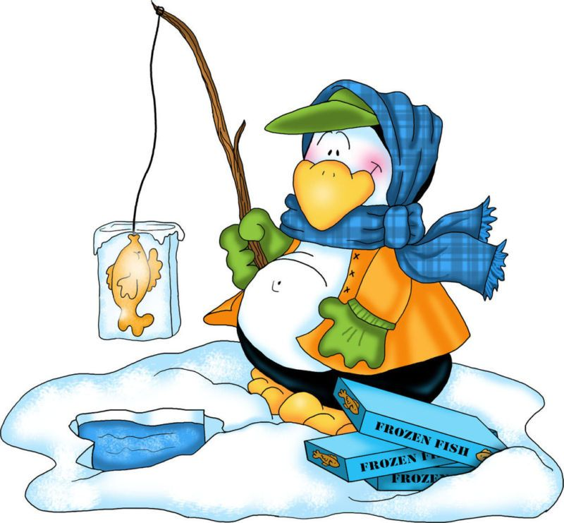 penguin clipart pinterest penguins clip art and winter rh pinterest co uk cartoon ice fishing clipart ice fishing clip art silhouette