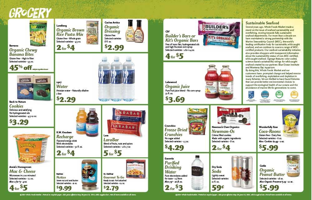 Image result for wholefood flyer organic juice