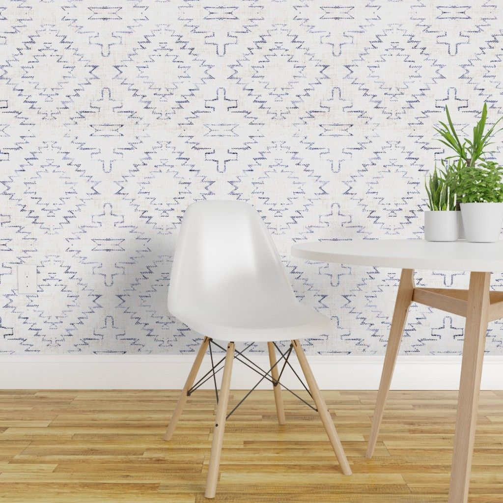 French Linen Sedona Geo On Isobar By Holli Zollinger Roostery Home Decor Peel And Stick Wallpaper Wallpaper Roll Removable Wallpaper