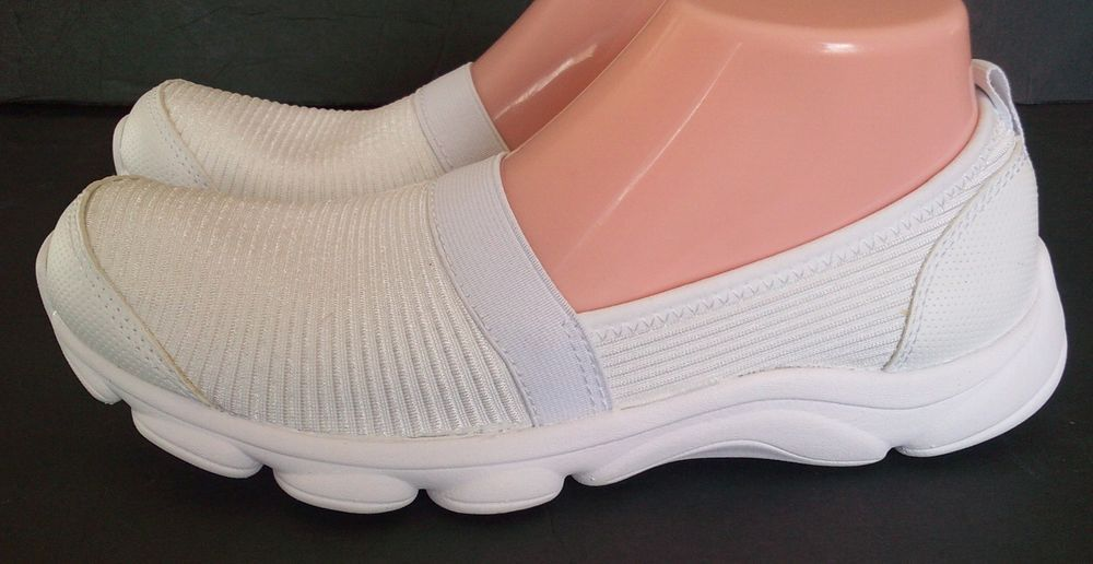 Easy Spirit E 360 - ESReelFun WHITE Comfort SLIP ON Soft Shoes SIZE 8.5  Narrow #