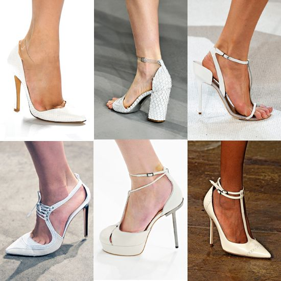 Spring 2012 shoe trends...white is the new nude