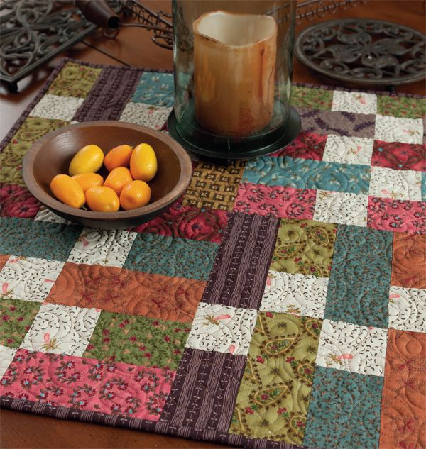 Free Patchwork Download From Kim Diehl Stitch This The Martingale Blog Quilted Table Toppers Table Topper Patterns Table Toppers
