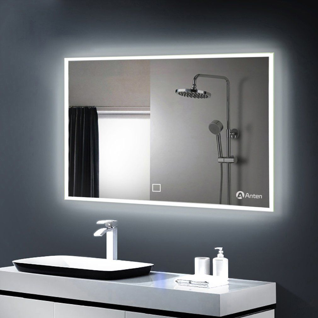 100 60cm Led Illuminated Bathroom Mirror With Built In Light Cool