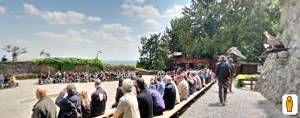 Spettacolo di falconieri presso il castello di Kintzheim. (Clicca sulla foto per aprire il tour virtuale)