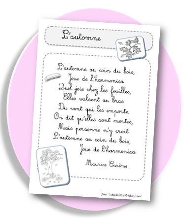 Poème Sur Lautomne Pour Les Ce1