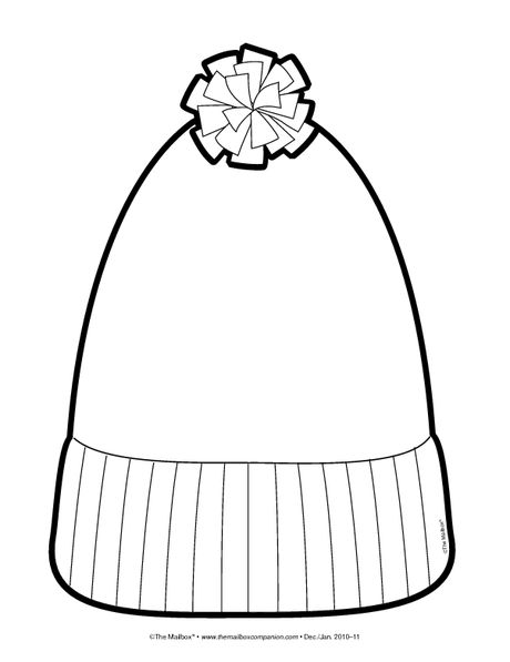 Stocking Hat Coloring Page Winter Art Projects Winter Hats