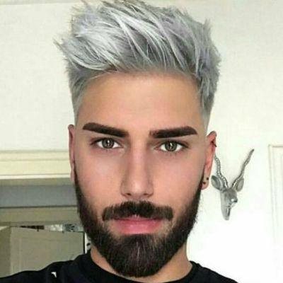 Mens Dyed Silver Hair Beard (400×400)