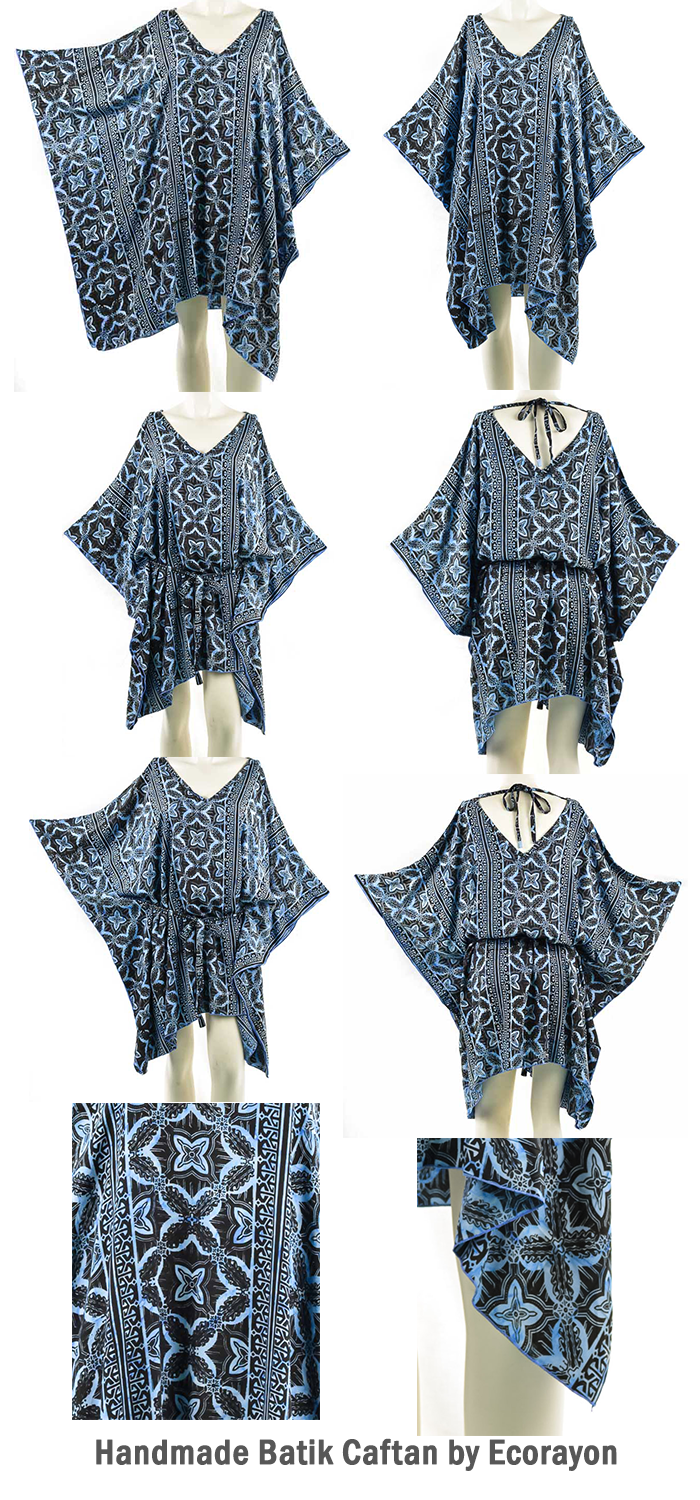 0503d98490 ... Hippie Boho Women Caftan Tunic Top Belt Rayon Cover up Fit Size Plus  Size. Beautiful Women Batik Caftan Tops - best for summer, autumn and  spring.