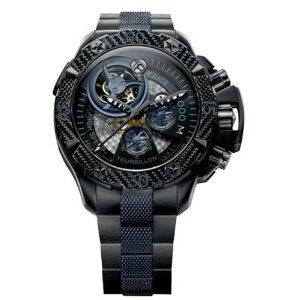 Zenith Men's 96.0529.4035/51.M Defy Xtreme Tourbillon Titanium Chronograph Watch $81,779.99  #ZenithWatches #luxurywatchclub