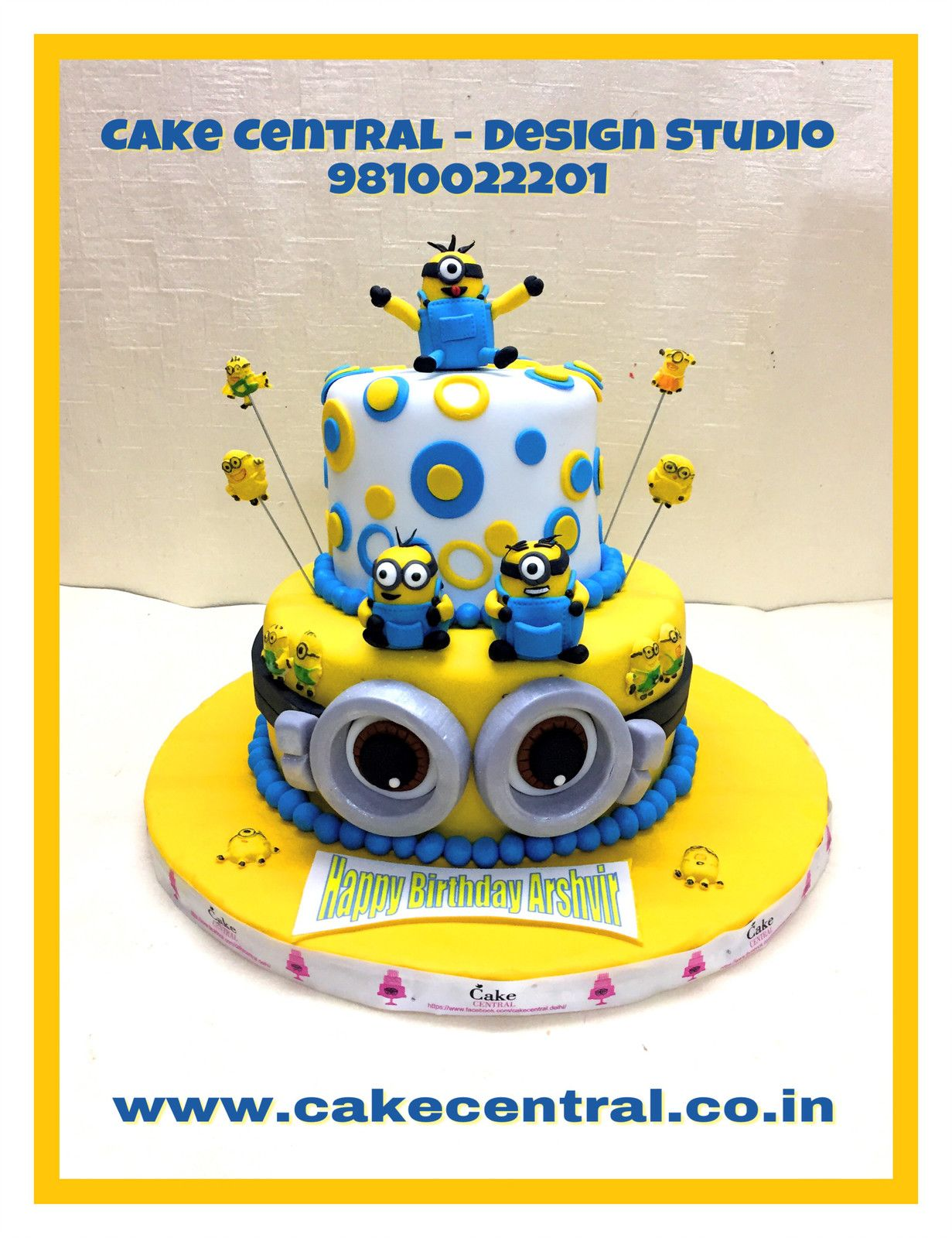 Minion Cake 2 Tier Birthday For Boys Beautifully Handcrafted By Central