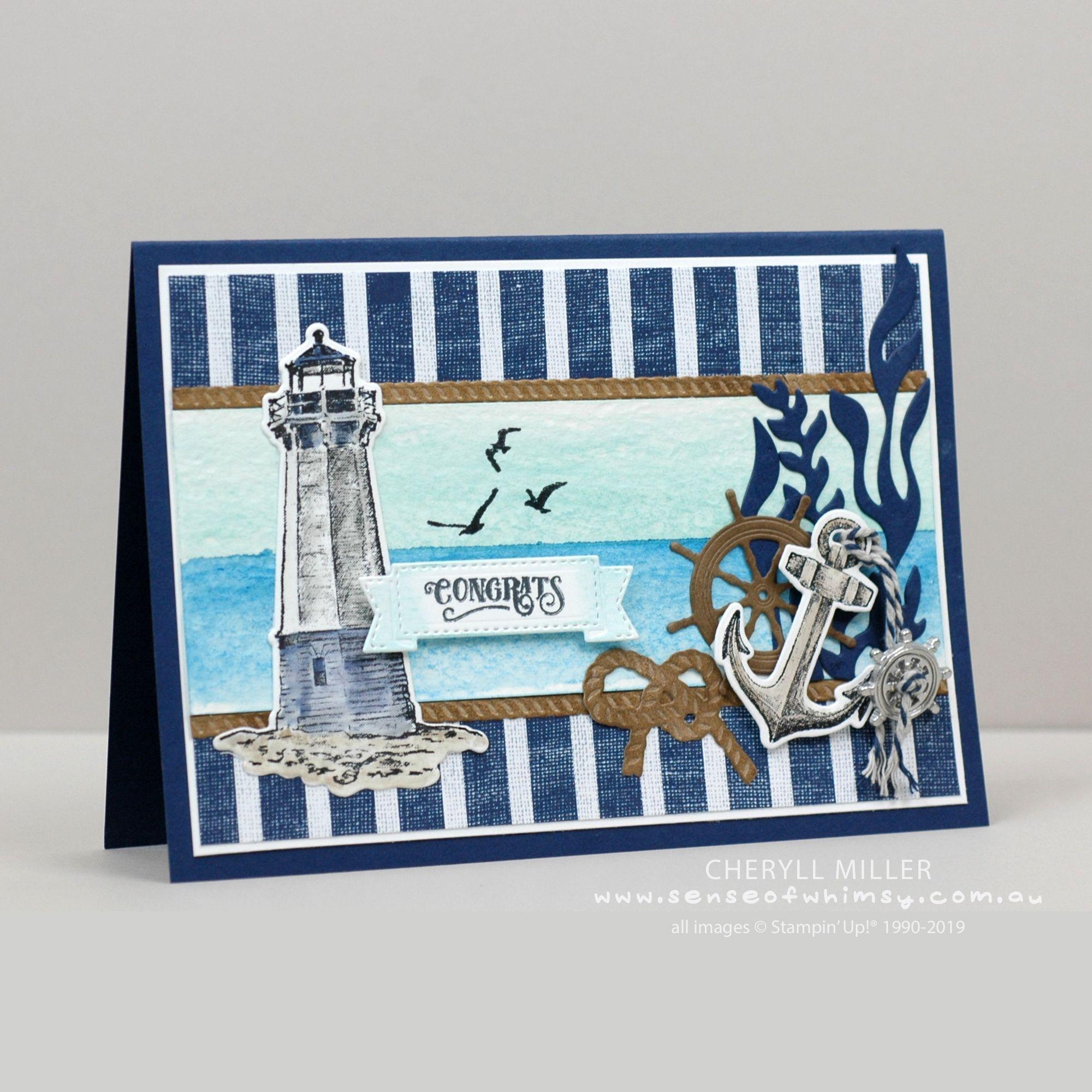 Come Sail Away Product Suite #stampinupcatalog Congrats Card, Product Spotlight sample featuring the Come Sail Away Suite by Stampin' Up! #stampinup!cards