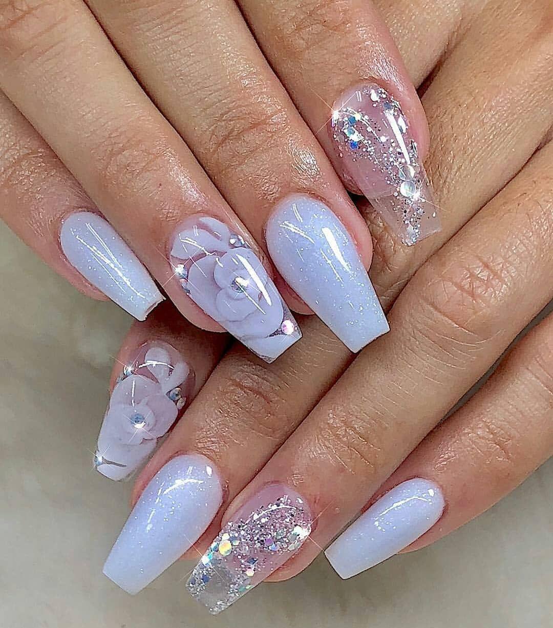 30 Cute Nail Design Ideas For Stylish Brides Wedding Forward Square Nail Designs Short Square Nails Nail Art Wedding