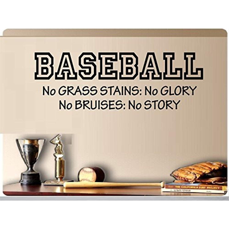 Baseball No Grass Stains No Glory No Bruises No Story