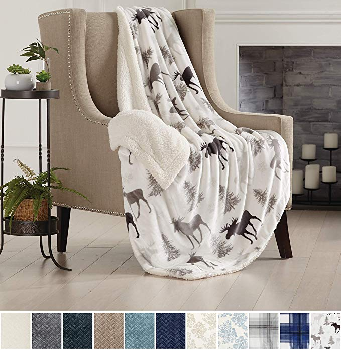 Amazon Com Home Fashion Designs Premium Reversible Two In One Sherpa And Sculpted Velvet Plush Luxury Blank Luxury Blanket Luxury Throw Blankets Throw Blanket