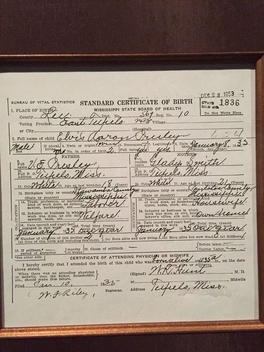 Elviss birth certificate i 3 elvis pinterest birth certificate elviss birth certificate 1betcityfo Image collections