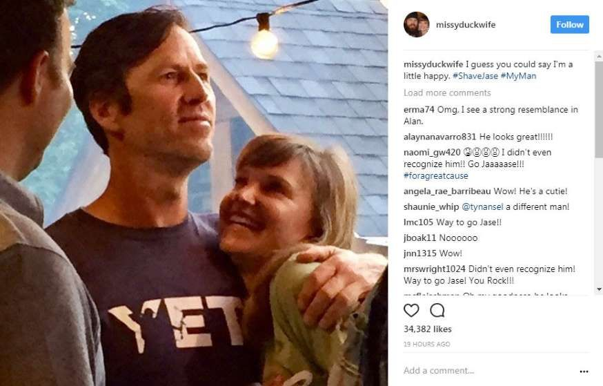 c9225f41ed3 Jase Robertson shaved off his beard for charity and looks like a completely  different person.Photo  Missy Robertson Instagram