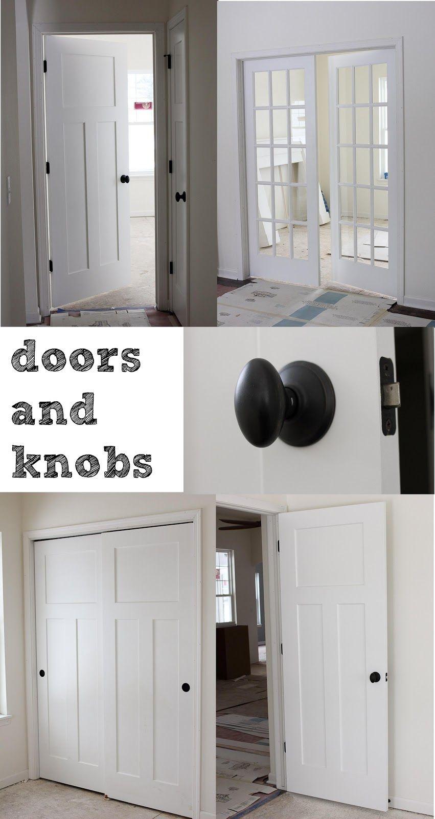 3 panel doors and oil rubbed bronze doorknobs lot 23 day - Oil rubbed bronze interior door handles ...