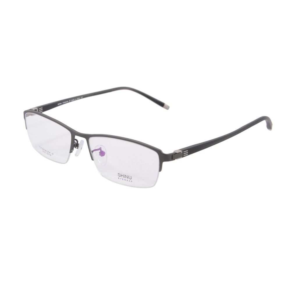 7e0e250f278 new arrival pure Titanium Men half rimless Optical Frames Eyeglasses ...
