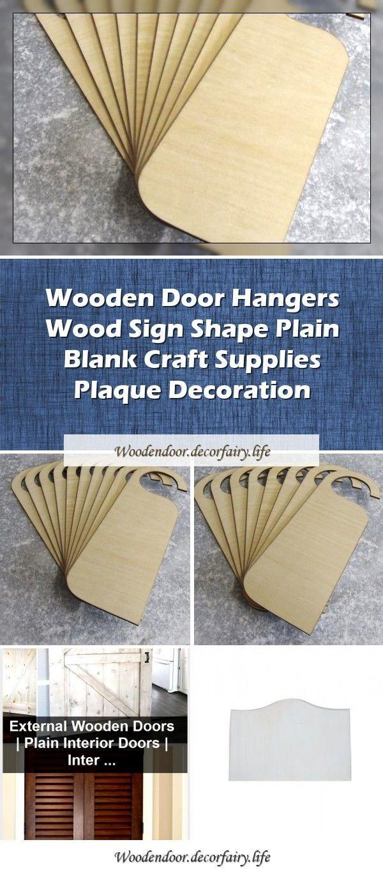 Photo of Wooden door hanger wooden sign shape plain blank craft supplies plaque decoratio…