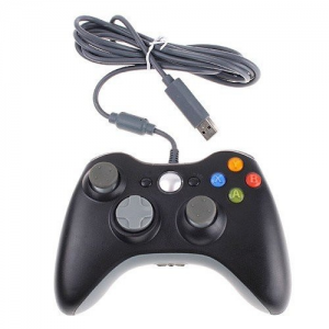 Wired Xbox 360 USB Game Pad Joysticks Controller For xBox 360 or PC Black. Overview : The Xbox 360 Controller features an extended nine-foot cable and a comfortable ergonomic design. The centralized, glowing Xbox Guide Button grants you quick access to your digital movie, music, and games libraries. The ultimate in gamer flexibility, precision, control, quality, and comfort are all yours. Features:  Game controller for XBOX 360 has new left and right shoulder buttons are designed for ease…