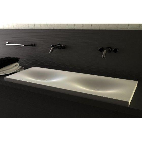 Plan vasque COCON FINO 120 en Corian , Made in France Bathroom - Meuble Vasque A Poser Salle De Bain
