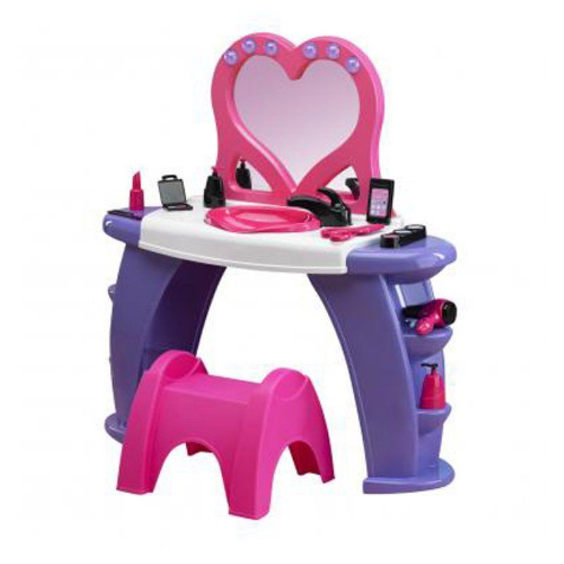 American Plastic Toys Deluxe Beauty Salon Vanity 25000 Beauty Kids Plastic Toys Kids Vanity