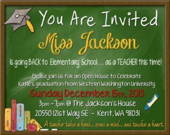 Invite board teacher themed shower pinterest graduation ideas invite board filmwisefo