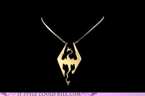 I Want This Badly Video Game Jewelry Dragon Necklace Skyrim Necklace