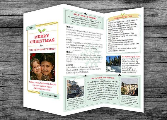 Year In Review  Christmas Newsletter Template In Pdf For  JvcS
