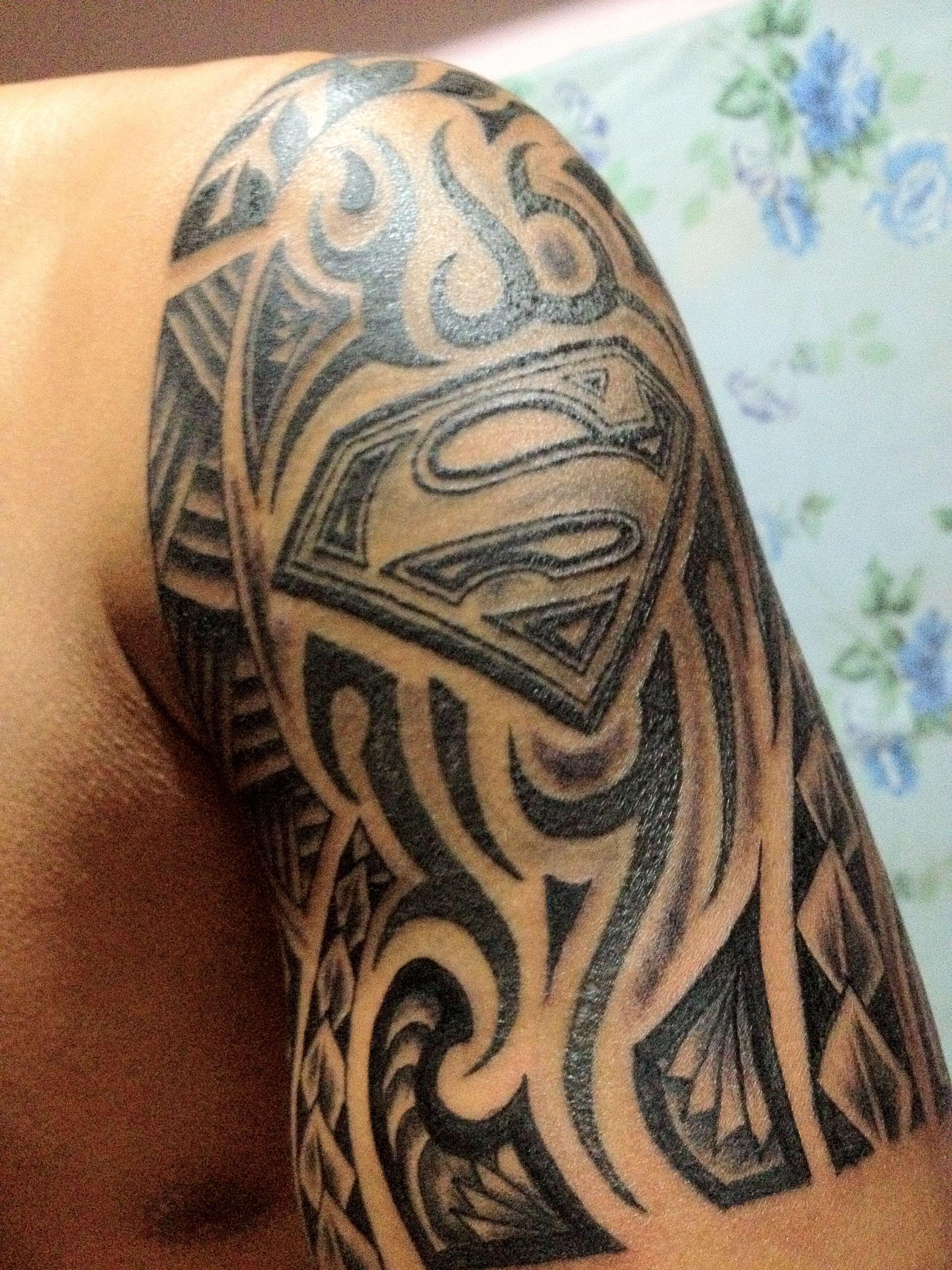 Superman Tribal Tribal Tattoos Skull Tattoos Runner Tattoo
