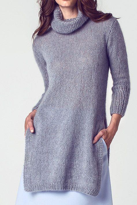 Lässig zu tragen, leicht zu stricken: Tunika kostenlose